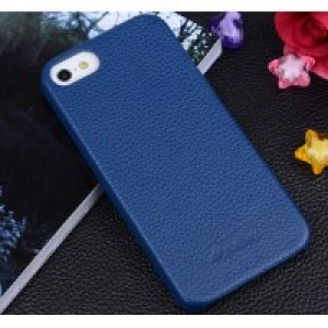 Кожаный чехол накладка Back Cover для Apple Iphone 5/5s/SE Синий