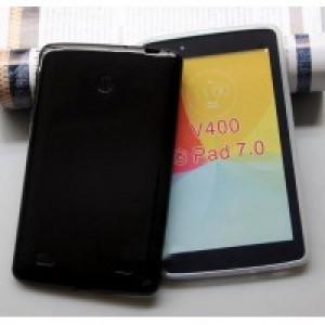Силиконовый глянцевый чехол для LG G Pad 7.0 Черный