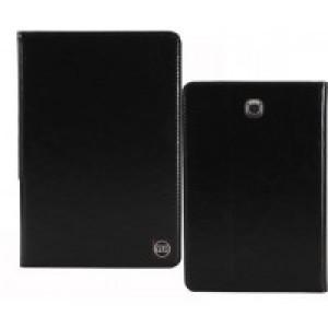 Кожаный чехол подставка на поликарбонатной непрозрачной основе для Samsung Galaxy Tab A 9.7 Черный