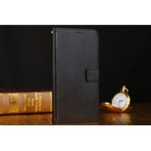 Глянцевый чехол портмоне с защелкой для Lenovo Vibe P1 Черный