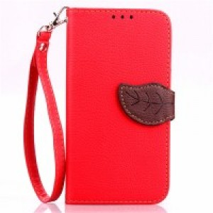 Текстурный чехол портмоне подставка на силиконовой основе с дизайнерской застежкой для Microsoft Lumia 640 Красный
