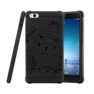 Силиконовый дизайнерский противоударный чехол текстура Дракон для Xiaomi MI5 Черный