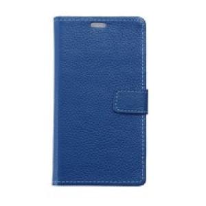 Чехол портмоне подставка с защелкой для Alcatel One Touch Pixi 4 (3.5) Синий