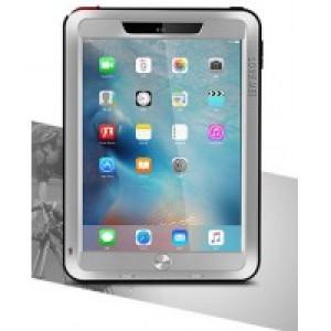 Эксклюзивный многомодульный ультрапротекторный пылевлагозащищенный ударостойкий чехол алюминиевый сплав/силиконовый полимер с закаленным защитным стеклом для планшета Ipad Pro 9.7 Серый