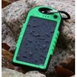 Влагопылезащищенное антискользящее портативное зарядное устройство с солнечной батареей 5000 mAh