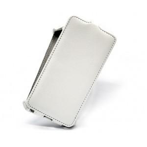 Кожаный чехол вертикальная книжка для Samsung Galaxy S6 Белый