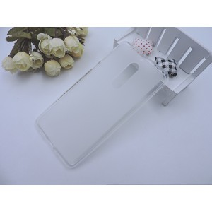 Силиконовый матовый полупрозрачный чехол для Nokia 6 Белый