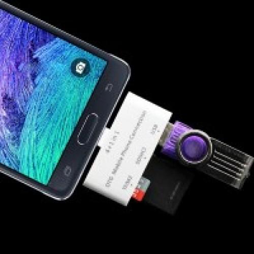 Универсальный переходник OTG кардридер для подключения внешней памяти USB 2.0/SD/MicroSD
