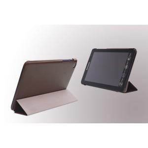 Чехол флип подставка сегментарный для Lenovo IdeaTab A5500 Коричневый