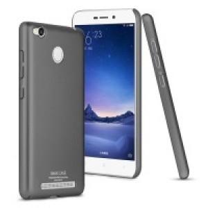 Пластиковый непрозрачный матовый чехол с улучшенной защитой элементов корпуса для Xiaomi RedMi 3 Pro/3S Черный