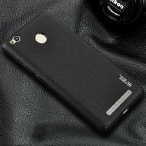 Пластиковый непрозрачный матовый чехол с повышенной шероховатостью для Xiaomi RedMi 3 Pro/3S Черный