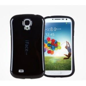 Силиконовый эргономичный непрозрачный чехол с нескользящими гранями для Samsung Galaxy S4 Mini Черный