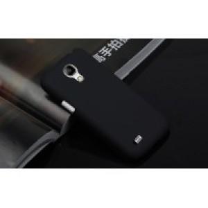 Пластиковый непрозрачный матовый чехол для Samsung Galaxy S4 Mini Черный