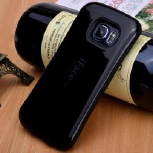 Противоударный двухкомпонентный силиконовый матовый непрозрачный эргономичный чехол с нескользящими гранями для Samsung Galaxy S7 Edge Черный