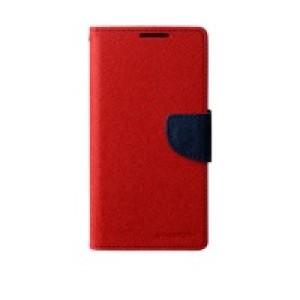 Чехол портмоне подставка на силиконовой основе на дизайнерской магнитной защелке для Sony Xperia Z2 Красный