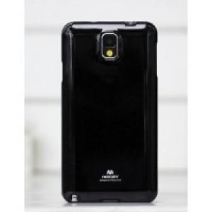 Силиконовый глянцевый непрозрачный чехол для Samsung Galaxy Note 4 Черный