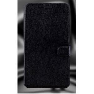 Текстурный чехол горизонтальная книжка подставка на пластиковой основе с отсеком для карт на магнитной защелке для Microsoft Lumia 640 XL Черный