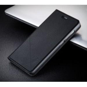 Чехол горизонтальная книжка подставка текстура Линии на пластиковой основе с отсеком для карт для Xiaomi RedMi 3 Pro/3S Черный