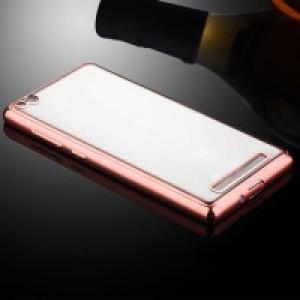 Силиконовый матовый полупрозрачный чехол с текстурным покрытием Металлик для Xiaomi RedMi 3