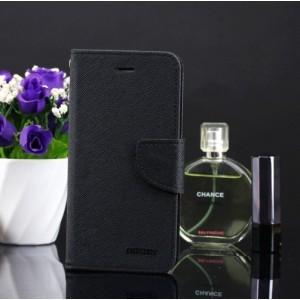 Чехол портмоне подставка на силиконовой основе на дизайнерской магнитной защелке для Samsung Galaxy A5 (2016) Черный