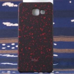 Пластиковый непрозрачный матовый чехол с голографическим принтом Звезды для Samsung Galaxy A5 (2016) Красный