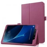 Чехол книжка подставка с рамочной защитой экрана и крепежом для стилуса для Samsung Galaxy Tab A 10.1 (2016) Фиолетовый