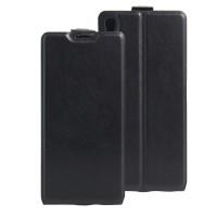 Чехол вертикальная книжка на силиконовой основе с отсеком для карт на магнитной защелке для Sony Xperia XA Ultra Черный