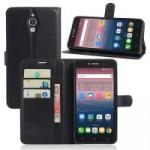 Чехол портмоне подставка на силиконовой основе на магнитной защелке для Alcatel One Touch Pixi 4 (6)