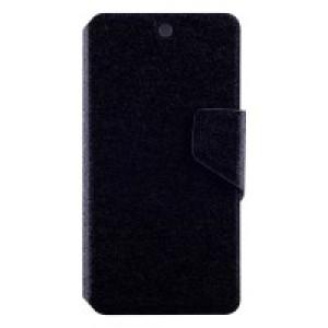 Чехол горизонтальная книжка подставка с отсеком для карт и текстурным покрытием на магнитной защелке для Google LG Nexus 5 Черный