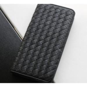 Чехол портмоне подставка текстура Кирпичи на пластиковой основе для Xiaomi MI5 Черный