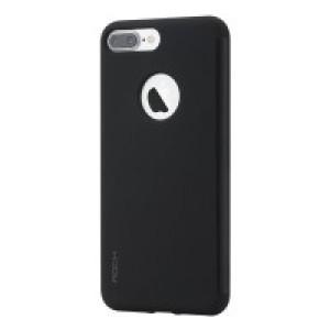 Пластиковый непрозрачный матовый чехол с полупрозрачной крышкой с зеркальным покрытием для Iphone 7 Plus/8 Plus Черный