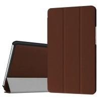 Сегментарный чехол книжка подставка на непрозрачной поликарбонатной основе для Huawei MediaPad M3 Коричневый
