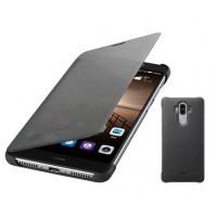 Оригинальный чехол флип с активным полноэкранным полупрозрачным окном вызова для Huawei Mate 9 Черный