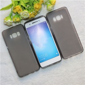 Силиконовый матовый полупрозрачный чехол для Samsung Galaxy S8 Черный