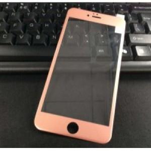 Полноэкранное ультратонкое износоустойчивое сколостойкое олеофобное защитное стекло-пленка для Iphone 6 Plus/6s Plus Розовый
