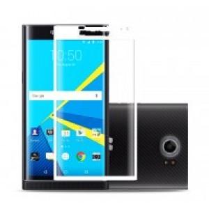 Полноэкранное ультратонкое износоустойчивое сколостойкое олеофобное защитное стекло-пленка для Blackberry Priv Белый
