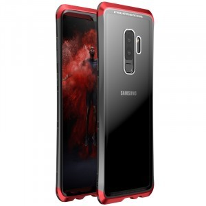 Металлический округлый двухцветный премиум бампер сборного типа с задней крышкой из закаленного защитного стекла для Samsung Galaxy S9 Plus