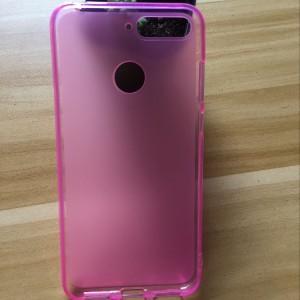 Силиконовый матовый полупрозрачный чехол для Huawei Honor 7A Pro/7C/Y6 Prime (2018) Розовый