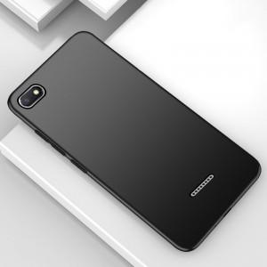 Силиконовый матовый непрозрачный чехол для Xiaomi RedMi 6A  Черный