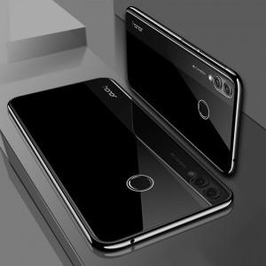 Силиконовый глянцевый полупрозрачный чехол для Huawei Honor 8X  Черный