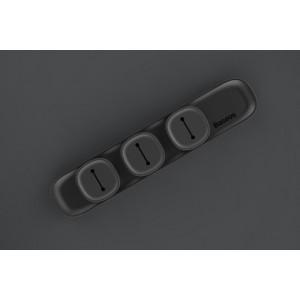 Универсальный магнитный держатель для 3-х кабелей на клеевой основе Черный