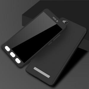 Двухкомпонентный сборный пластиковый матовый чехол для Xiaomi RedMi 4A Черный