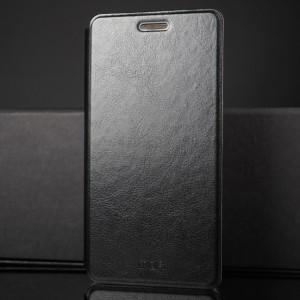 Чехол флип подставка на силиконовой основе для Xiaomi RedMi Note 4 Черный