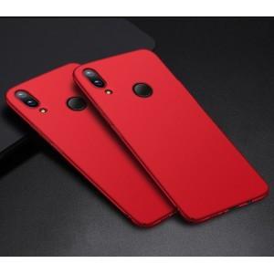 Пластиковый непрозрачный матовый чехол с улучшенной защитой элементов корпуса для Huawei P Smart 2019/Honor 10 Lite Красный