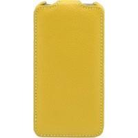 Чехол кожаный книжка вертикальная для HTC Butterfly Желтый