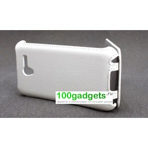 Чехол кожаный подставка Phone cover для ASUS Padfone 2 Белый