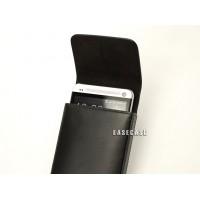 Чехол кожаный натуральный карман для HTC One M7