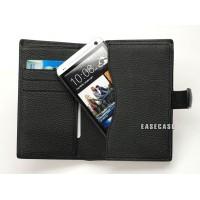 Чехол кожаный натуральный бумажник для HTC One M7
