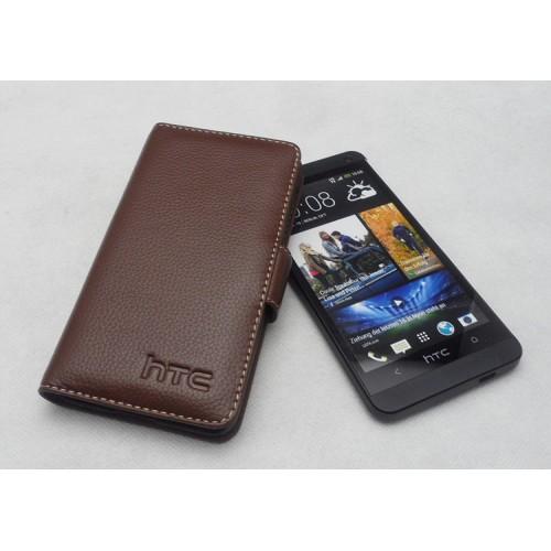 Кожаный чехол портмоне (нат. кожа) для HTC One M7 Dual SIM