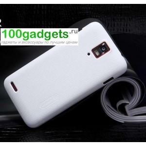 Пластиковый чехол матовый премиум для Huawei Ascend D1 Белый